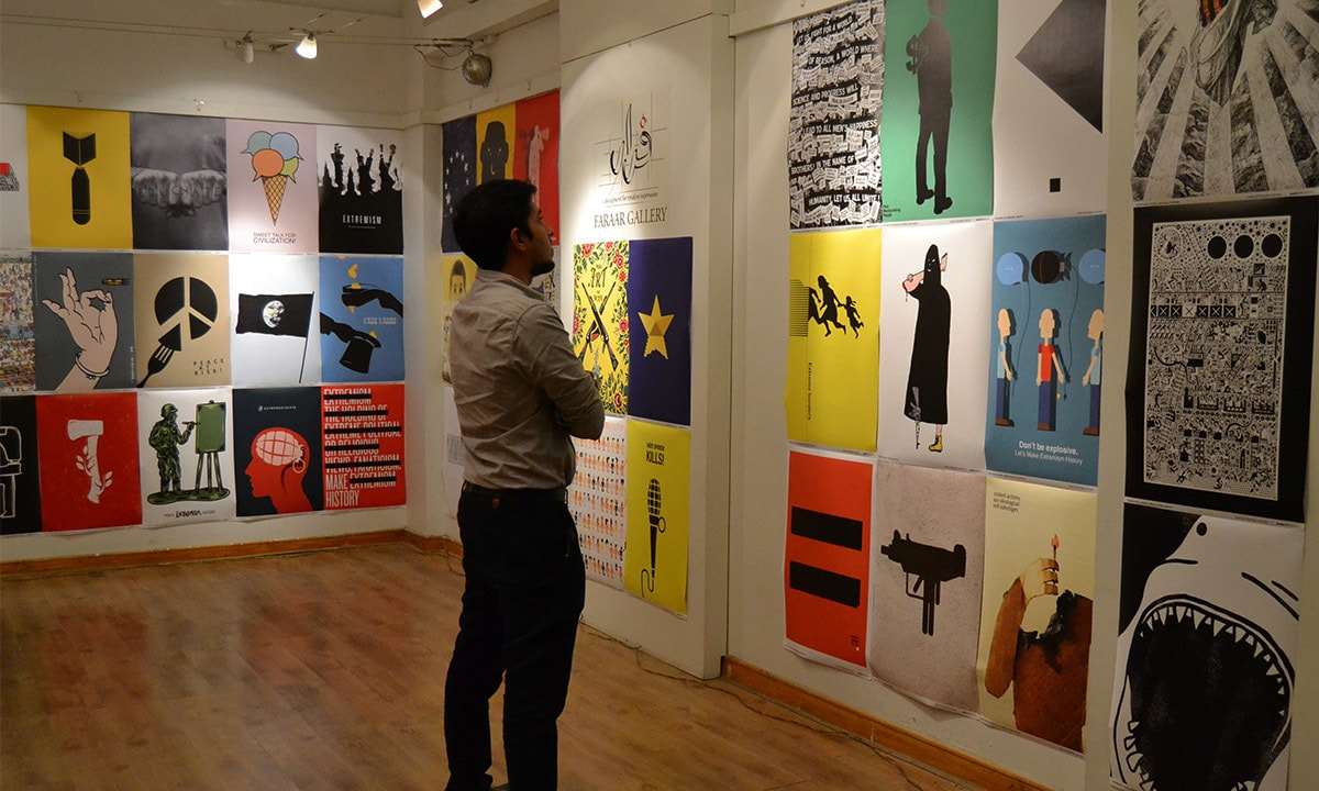 The exhibition displayed 100 winning posters shortlisted from 5,300 entries | Momina Khan