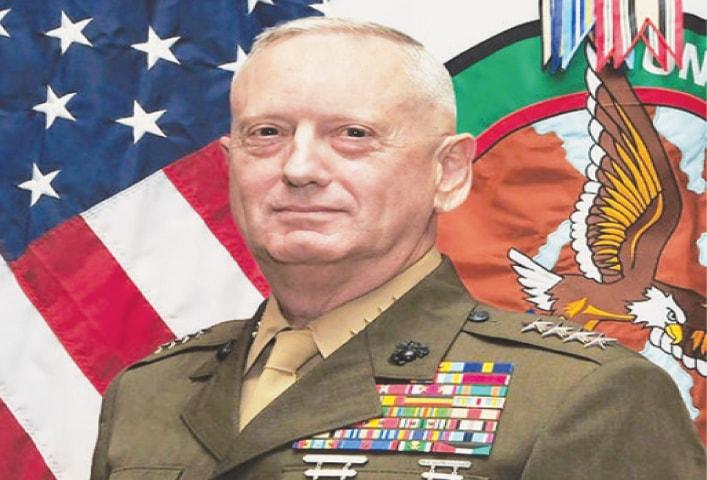 US defence secretary-designate James Mattis