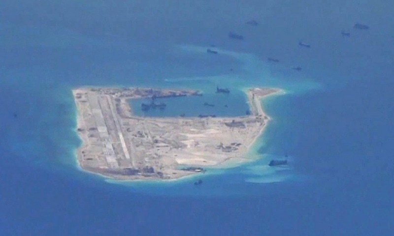 China's state-run paper warns US over island 'confrontation'