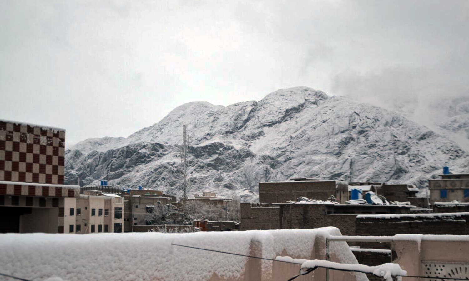 A view of the snow-capped peaks surrounding Quetta.— Photo by Asmatullah Kakar