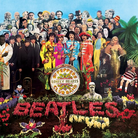 The album cover of Sgt. Pepper which was a commentary on counter culture and another cover which according to PID  theorists  was rich with clues.
