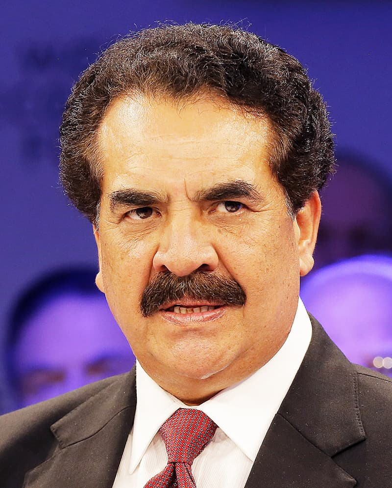 General (retd) Raheel Sharif speaks at the World Economic Forum. -AP