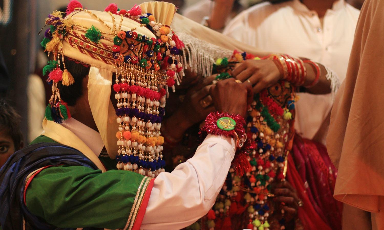 Sindoor ceremony.