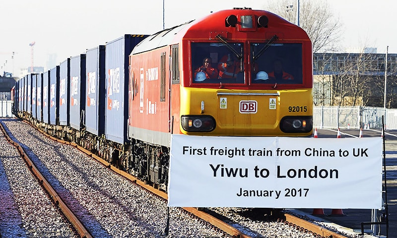 First 'Silk Road' train arrives in UK from China