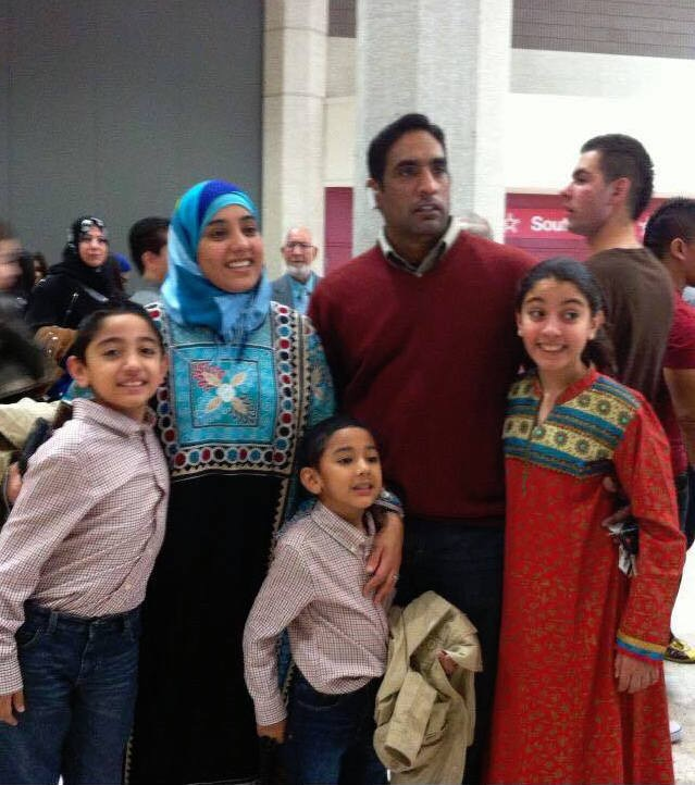 Mukhtar Ahmed with his family.—Photo courtesy Shamy Nabil