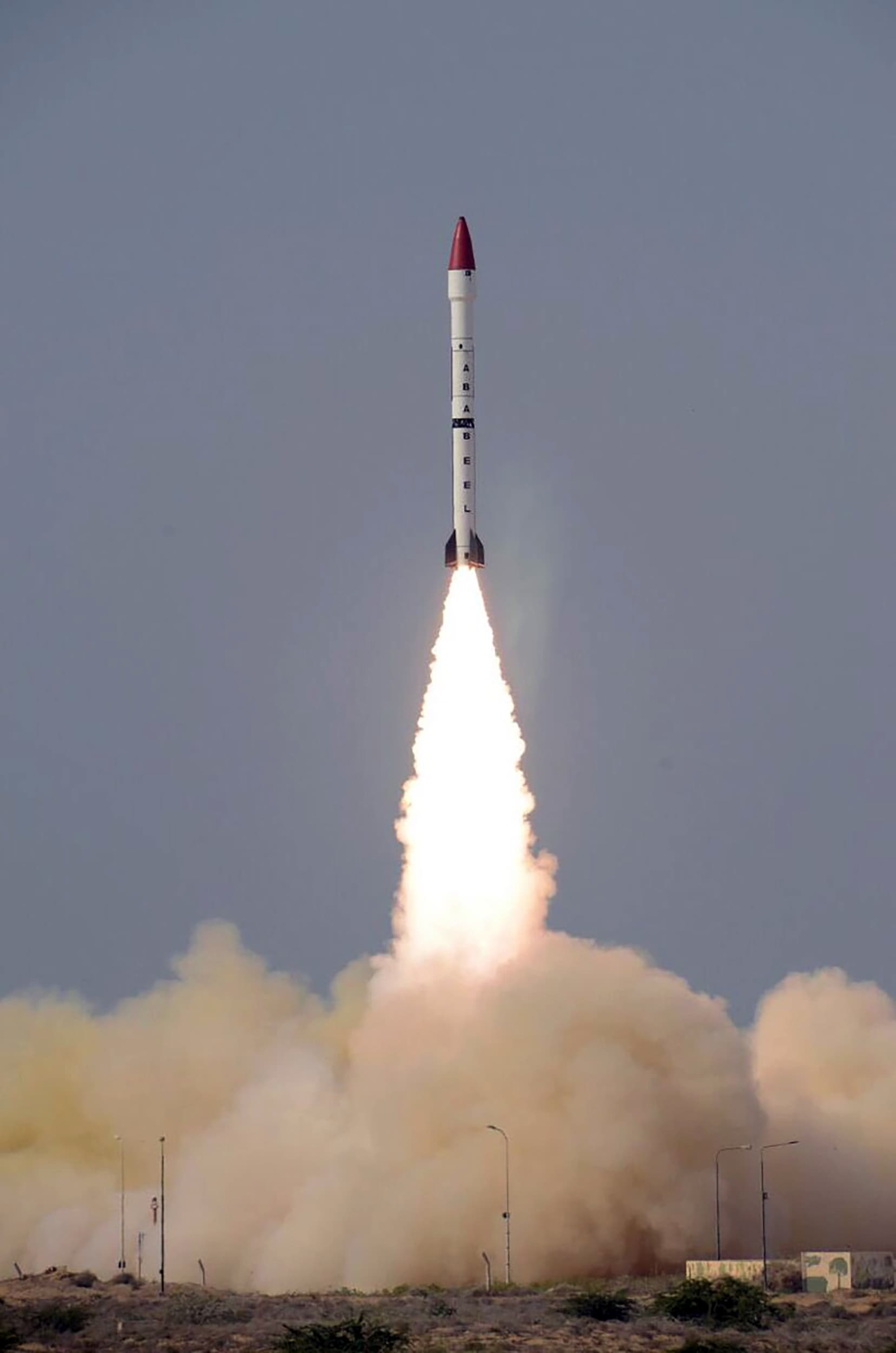 Surface-to-surface Ababeel ballistic missile. -AFP