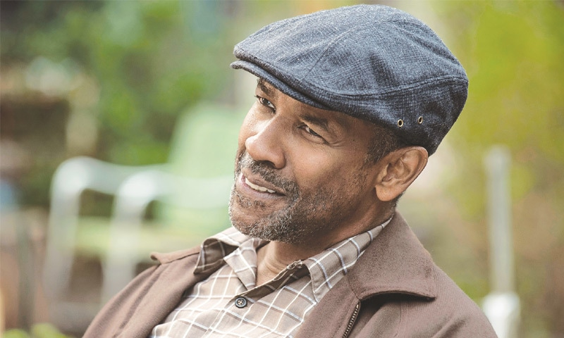 DENZEL Washington in a scene from Fences. The two-time Oscar winner was nominated for an Oscar for best actor in a leading role on Jan 24 for his work in the film.—AP
