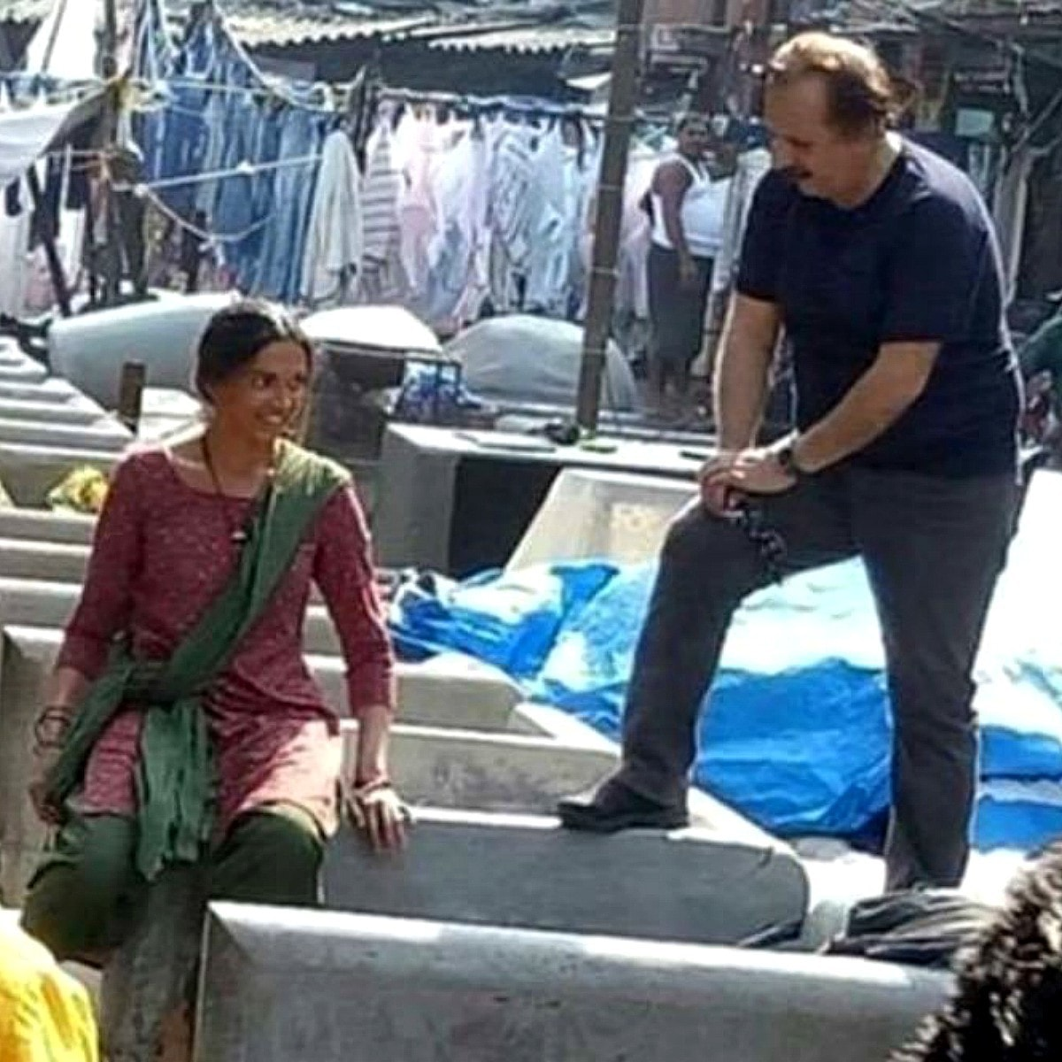 Photos of Deepika Padukone with Majid Majidi sparked off a rumour about her being cast in his film - Photo: Twitter
