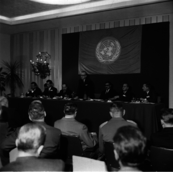 Abdus Salam at the United Nations. Source - ICTP Photo Library