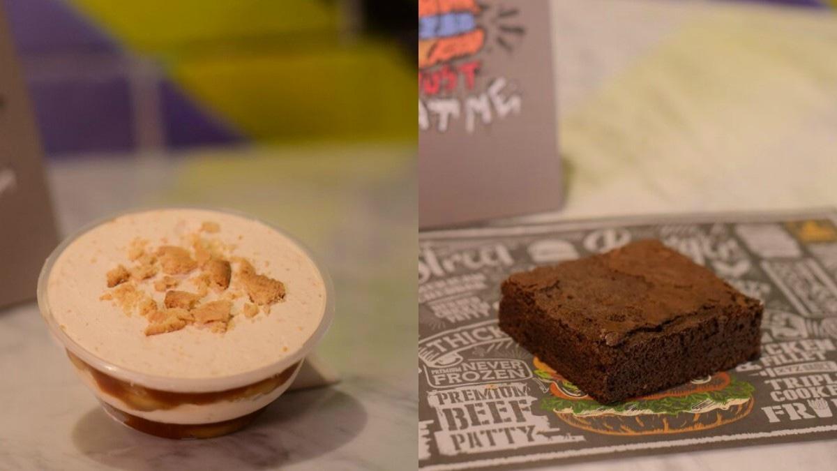 Other dessert options include Toffee Crisp Cheese Cake, Chocolate Hazelnut Pie, Banoffee Pie and Lemon Meringue