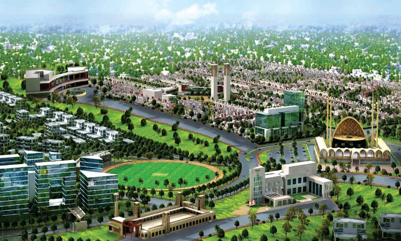 A model city: The Naya Nazimabad area will include schools, sports facilities, banks, fast food restaurants, a hospital and parks.