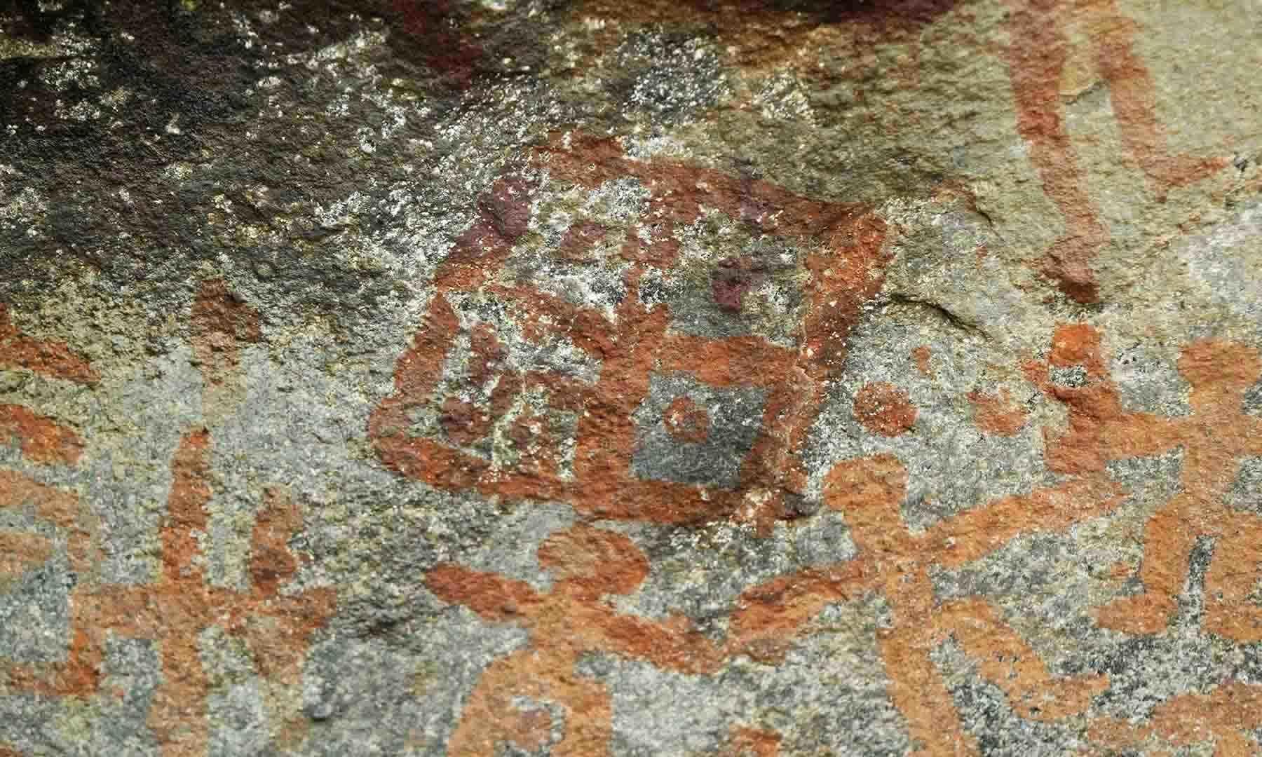 سرگاہ سر کی تقریباً تین ہزار سال پرانی پینٹنگ— امجد علی سحاب