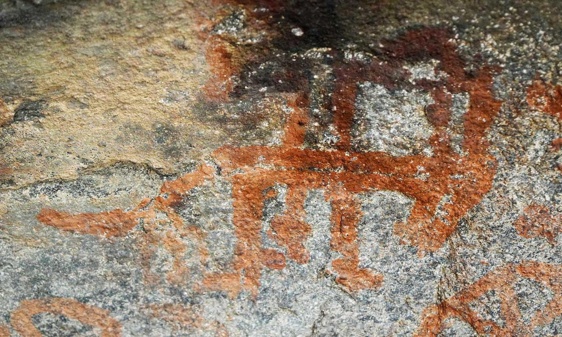 تقریباً تین ہزار سال پرانی پینٹنگ، جس پر کسی جانور کا گمان ہوتا ہے— امجد علی سحاب