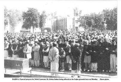 Abdus Salam's funeral - Dawn archives