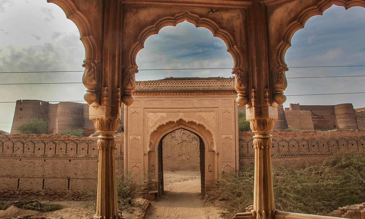 The fort as it looks from the balcony of the mosque in its courtyard.─ Fazal Khaliq