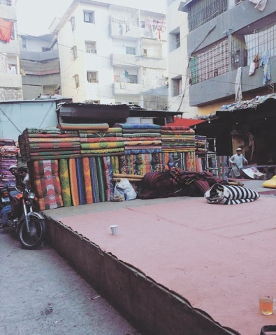 KARACHI: A view of carpet wali gali in Al-Asif Square.—Photo by writer