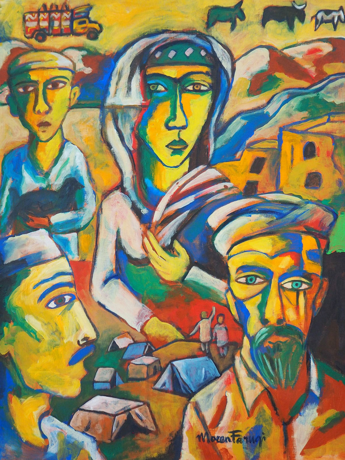 The Lost Generation | Moeen Faruqi (acrylic on canvas)