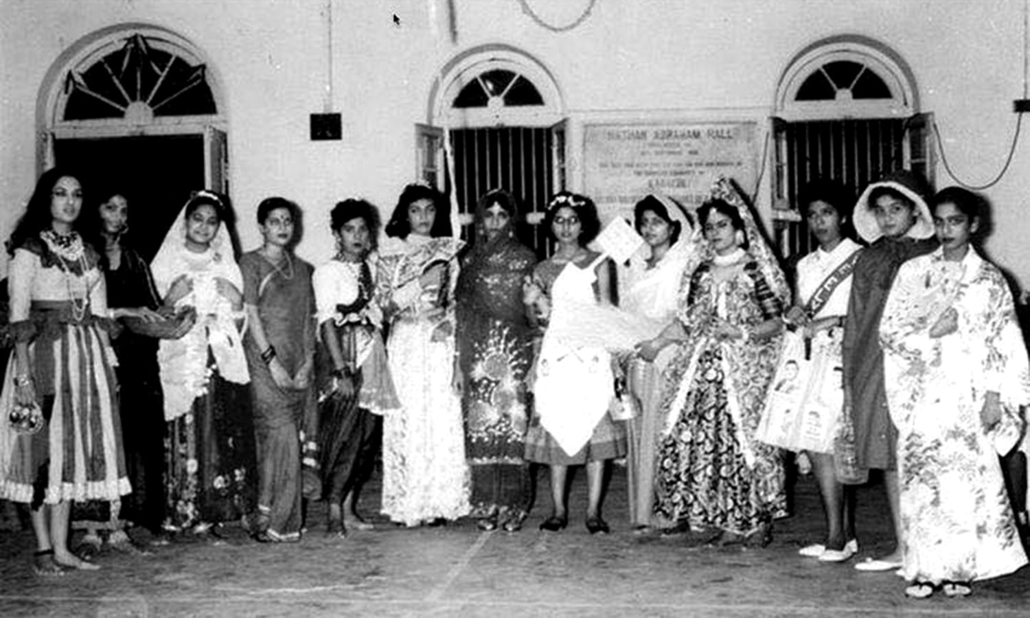 Jewish girls at a reception in Karachi in the 1950s.