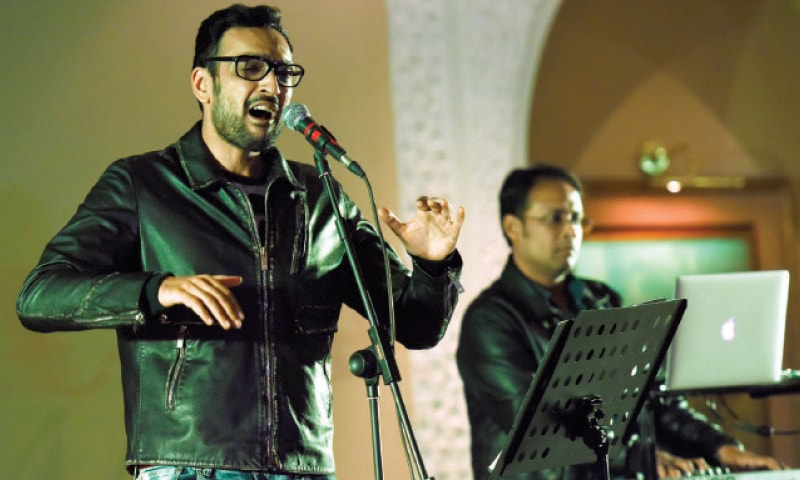 ALI Sethi performs at the Serena Hotel on Thursday. — White Star