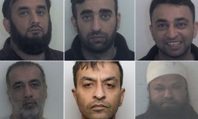 Five men were found guilty today; Clockwise from top left: Tayab Dad, Nasar Dad, Basharat Dad, Matloob Hussain and Mohammed Sadiq. Amjad Ali pleaded guilty in February. ─ Photo courtesy South Yorkshire Police
