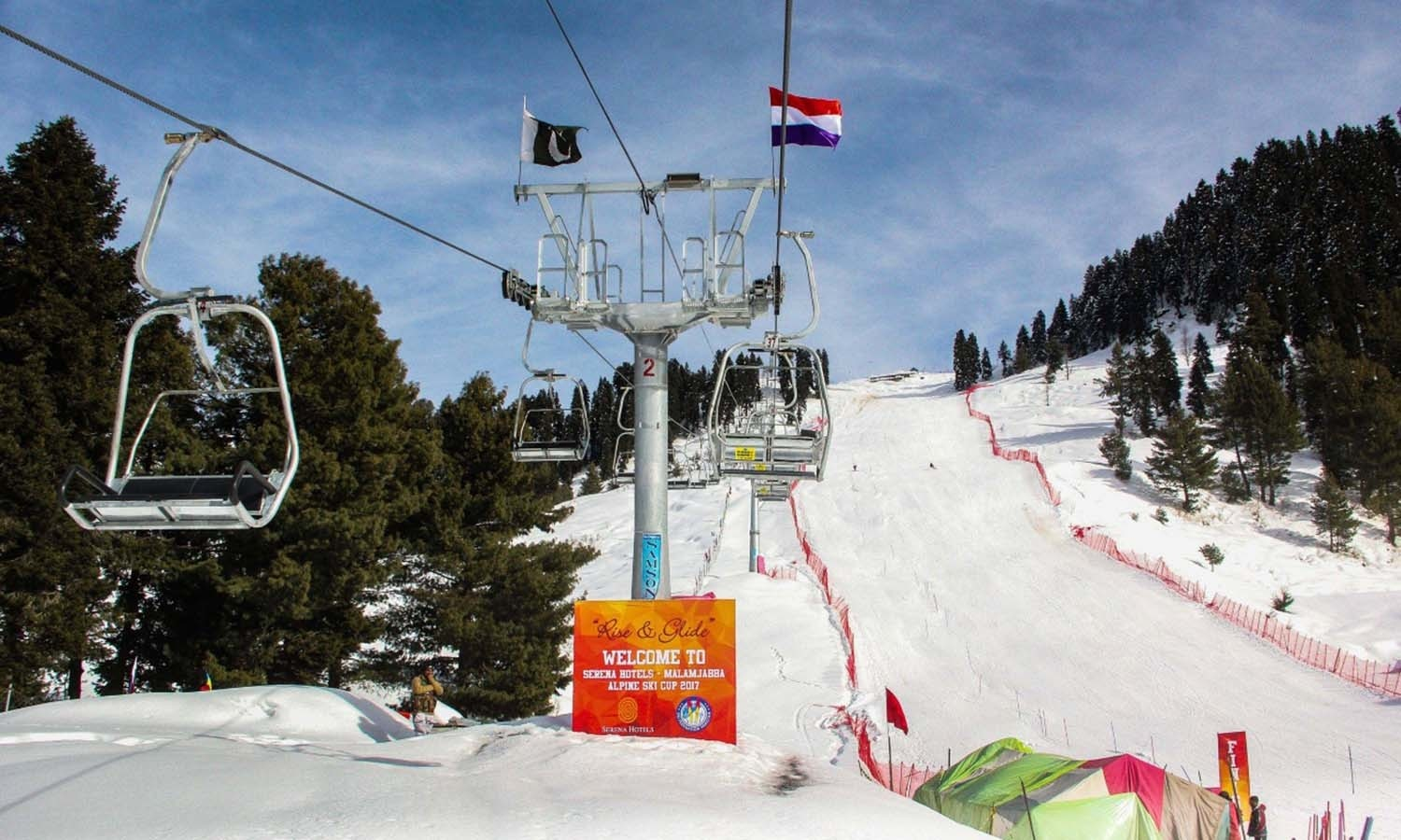 A chairlift in Malam Jabba. ─ Photo by author.