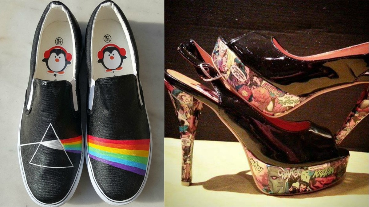 From heels to Toms, Saadia can turn any shoes into a one of a kind creation