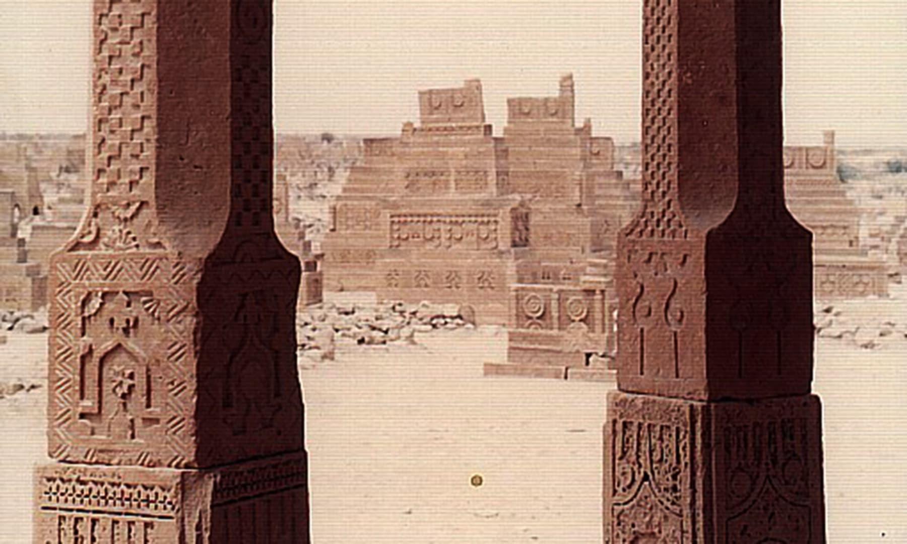 چوکنڈی طرز کے مقبرے — تصویر ابوبکر شیخ