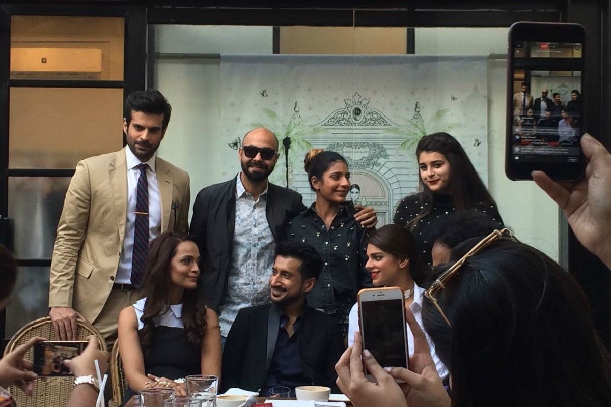 Director Asim Abbasi with his cast and crew at the film's announcement