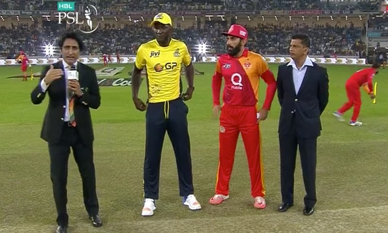 The captains at toss. -DawnNews