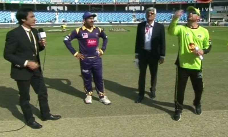 The Lahore Qalandars won the toss and opted to field. ─ DawnNews