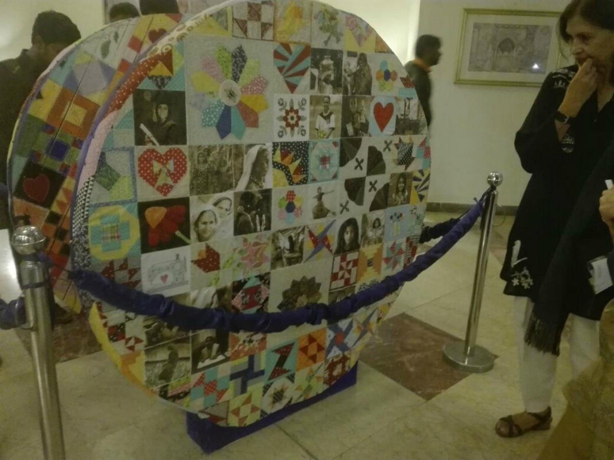 A reel installation by Karachi Biennale