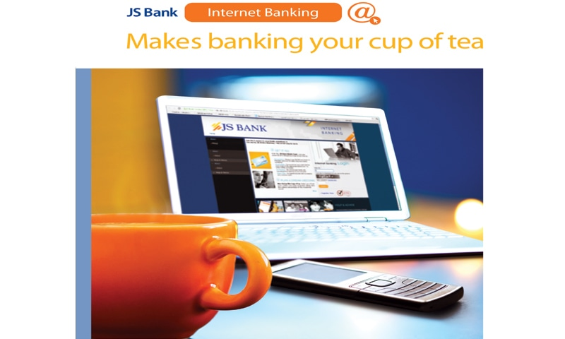 Only a click away: JS Bank is the latest entrant in the field of internet banking.
