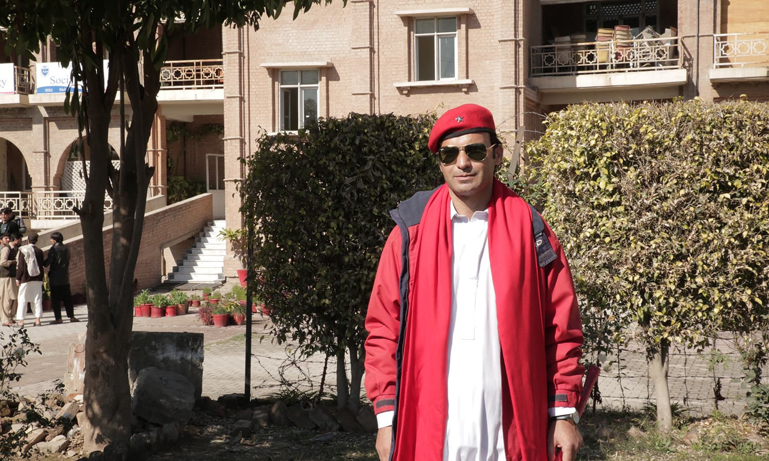 'Royal Shakir,' a member of the left-leaning PSF at the University of Peshawar. — Sara Khan