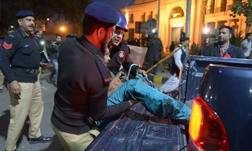 Senior police officers among 13 killed as suicide bomber strikes Lahore