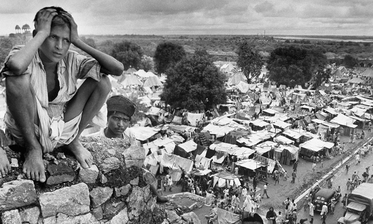 A boy in a refugee camp in Delhi during the Partition in 1947 | Margaret Bourke-White, Life Magazine