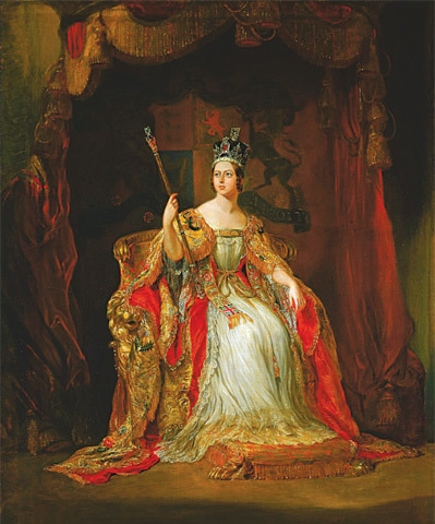The state portrait of Queen Victoria at her coronation.—Wikimedia Commons
