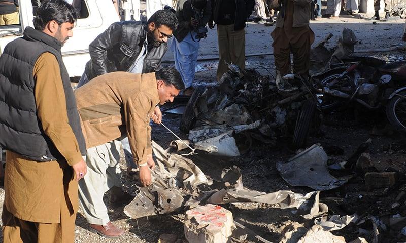 Razzaq surveying the carnage. — Photo by Banaras Khan
