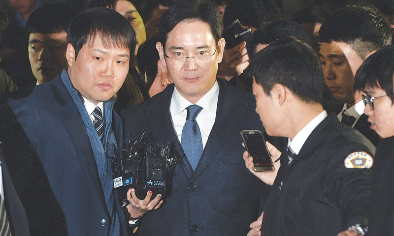 Samsung heir arrested in corruption probe