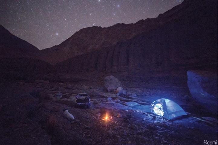 Camping out at Moola Chotook.