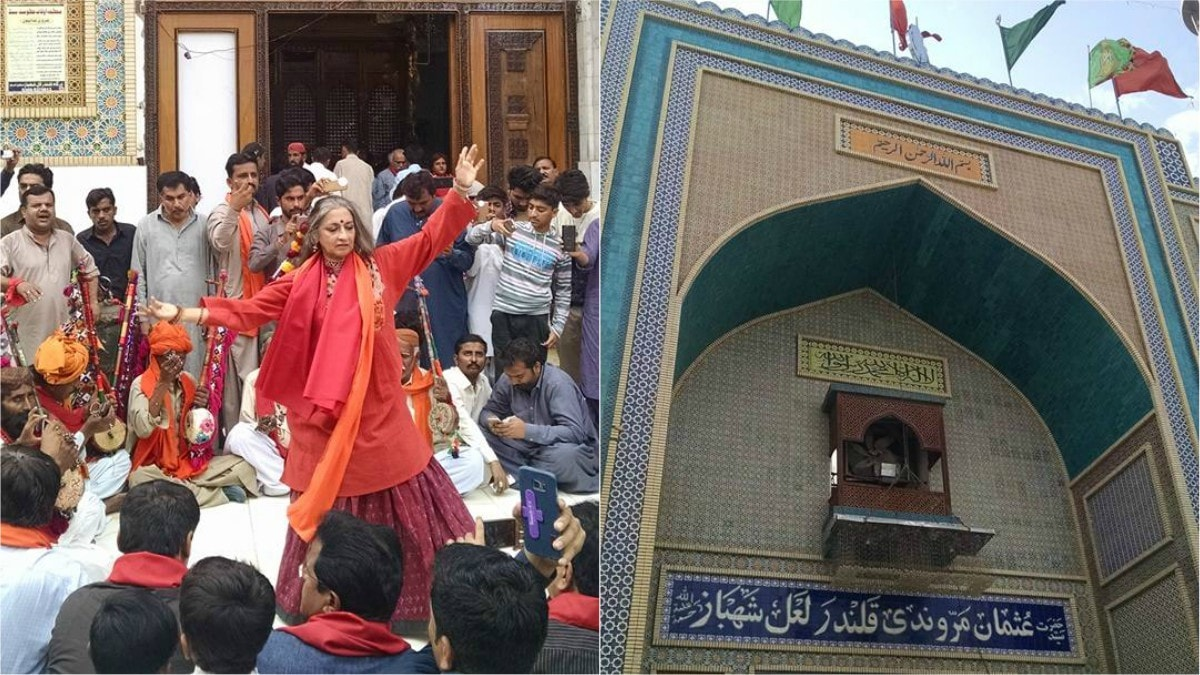 Sheema Kermani performs at Lal Shahbaz Qalandar's shrine just days after the bomb blast - Photo credits: Waheed Ali