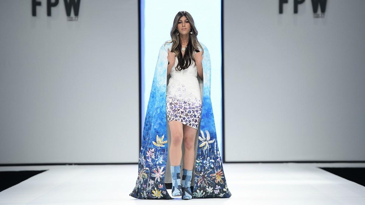 Sara Hirji walks for Tooba Chottani