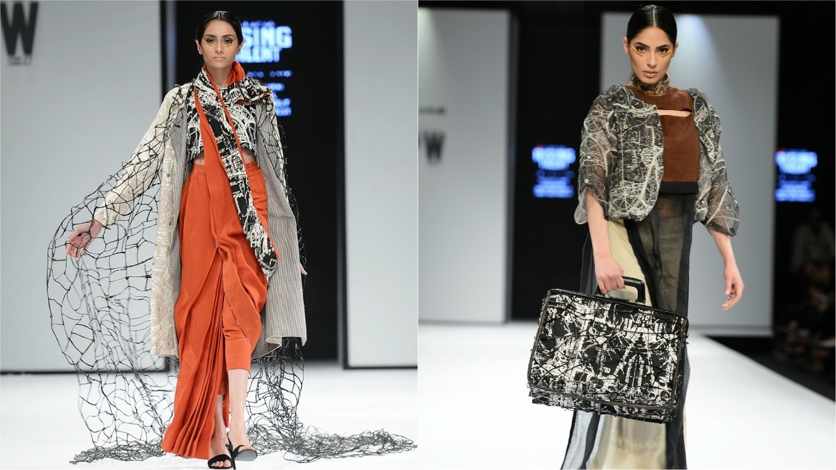 Zafar Ahsan Naqvi's wild and quirky collection for the Rising Talent segment in 2017