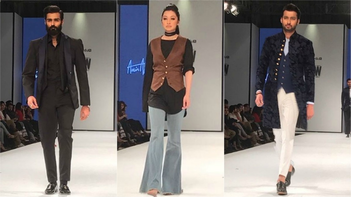 Waistcoats and sherwanis dominated the runway during Amir Adnan's show. Photo: Instagram/Fashion Pakistan Official