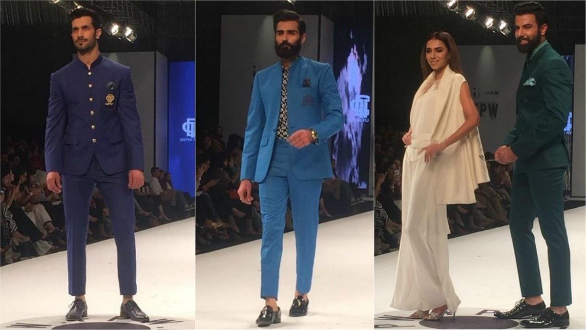 Men in hues of blue for Deepak Perwani. Photo: Instagram/Fashion Pakistan Official