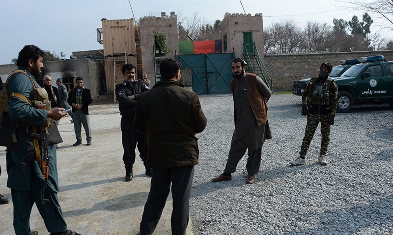 Afghan governor of Bati Kot District of Nangarhar Province Haji Ghalib who was imprisoned for five years at Guantanamo Bay, inspects security outposts in Bati Kot. ─AFP