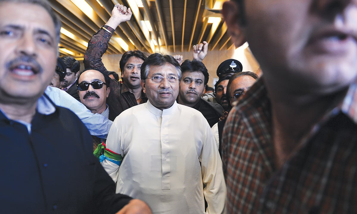 Pervez Musharraf returns to Karachi after four years of self-imposed exile on March 24, 2013 | AFP