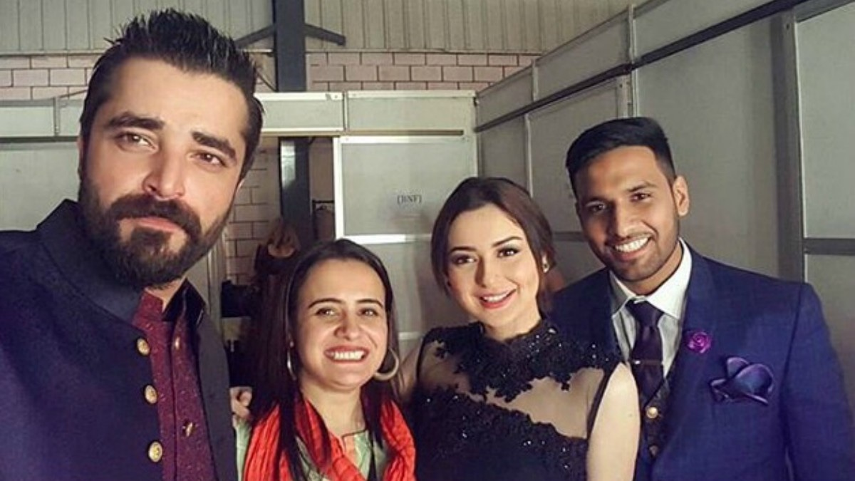 Hania Amir with Hamza Ali Abbasi and Zaid Ali T.