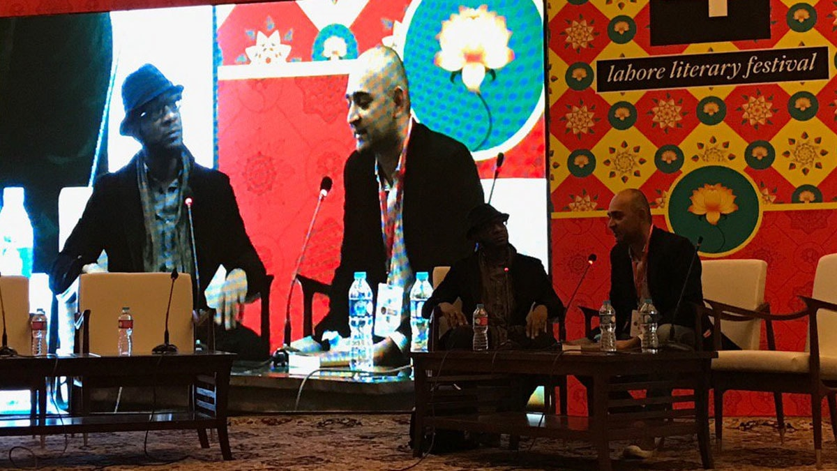 Teju Cole and Mohsin Hamid, LLF 2017.