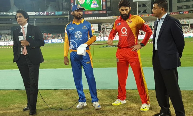 Islamabad United won the toss. ─ Photo courtesy PSL Twitter