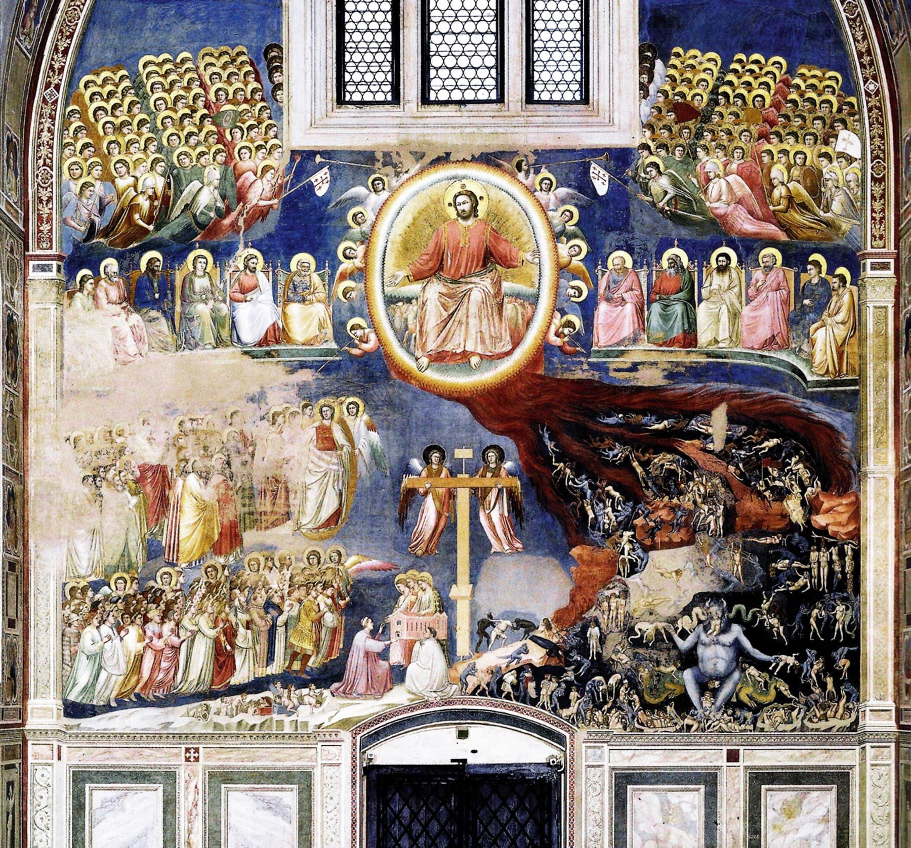 """روزِ قیامت کا منظر ""، جاٹو کی پینٹنگ(The last judgement)"
